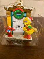 Kurt Adler Sesame Street Elmo Big Bird Holiday Picture Frame Christmas Ornament