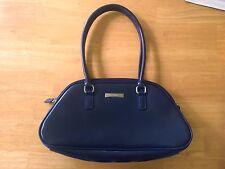 "Esprit Vintage Purple Shiny Vinyl Shoulder Bag Purse Hobo Small 12.5"""