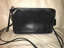 Vintage Coach Bonnie Cashin  Black Leather Clutch Shoulder Bag #2609