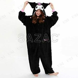 Kuromi Sanrio Japan Cosplay Costume Pajamas Fleece Kigurumi SAZAC Halloween New