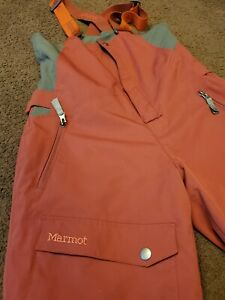 Marmot Boy Insulated Snow Pant With Suspenders Maroon XL