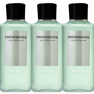 3 Pc Bath & Body Works Freshwater Men's Collection 3 in 1 Body Wash Set New