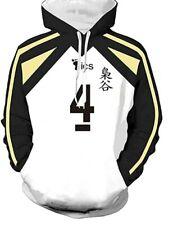 Estatuilla!!! fukurodani Academy No.4 Bokuto Koutarou Chaqueta Suéter Con capucha Juegos con disfraces