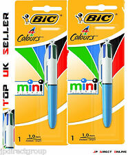 2 X Bic Original Mini 4 in1 Color Retráctil Bolígrafo Escuela Oficina Arte
