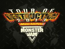 MONSTER JAM Tour of Destruction small tee Grave Digger 2013 T shirt truck USHRA