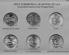 2009 P Mint - Guam & etc., 6 Quarter set Uncirculated Clad, DC & Territorial.