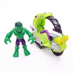Playskool Hasbro 2012 Marvel Super Hero Squad Tread Racer Vehicle w/ Hulk Figure
