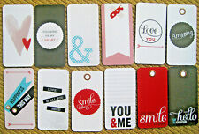 """'HELLO ' PROJECT LIFE CARDS -  pack of 12 - 2"""" x 4"""""""