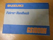 Bedienungsanleitung Fahrerhandbuch Suzuki GS 1000 H