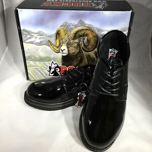 Mens Rocky High Gloss Leather Oxford Shoes 7 M FQ00510-8 Military Dress (SB26/27