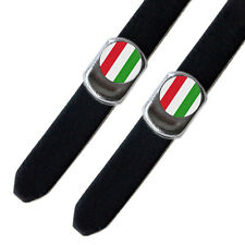 Italian Flag Toe Clip Strap Buttons L'Eroica Retro Vintage Bicycle
