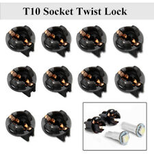 10x Twist Lock T10 W5W 168 192 194 Wedge Instrument Panel Dash Light Base Socket