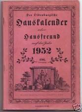 Hauskalender Oldenburg  1952  Stalling Verlag