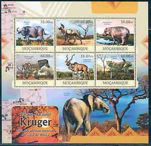 MOZAMBIQUE KRUGER NATIONAL PARK SOUTH AFRICA SHEET OF SIX AS SHOWN