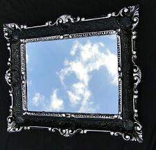 Wall Mirror Baroque Bathroom Mirror Black-Silver 57x47 Repro New Bathroom Mirror