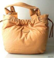 new $1585 TOD'S Shirt Shopping Grande tan leather tote LARGE BAG - BEST nude