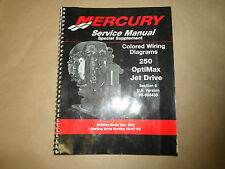 2002 Mercury 250 Optimax Jet Drive Farbige Wiring Diagrams US 90-888438 OEM 02