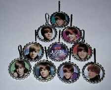 15 JUSTIN BIEBER BACKPACK CHARM  ZIP ZIPPER PULL KEYCHAIN KEYRING PARTY FAVORS