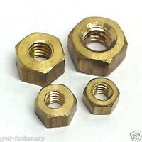 2BA Brass Full Nuts - 2 BA - 20 Pack