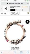 Shourouk Salome Pink Crystal Bracelet RRP $245