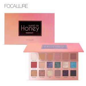 "FOCALLURE 18 Color ""SWEET AS HONEY"" Nude Glitter Eyeshadow Makeup Palette"