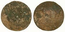 FRANCE - 1636 Double Lorrain - Louis XIII - Rare Stenay Mint - Late Die State