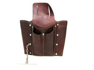 LEATHER 5-POCKET ELECTRICIAN'S TOOL POUCH