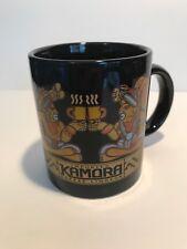 "Kamora Imported Coffee Liqueur Tea Mug Cup 3-3/4"" x 3"" Black Pre Columbian Image"