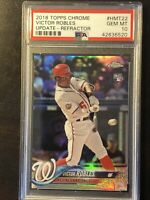 2018 topps chrome update victor robles Refractor Psa 10 /250 Rookie Card RC 💎