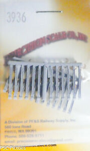 """Precision Scale HO #3936 Handrail Stanchions, Modern EMD Side, .022"""" / 20 in pkg"""