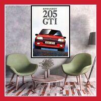 REPRO TOILE AFFICHE VOITURE CAR 205 GTI PEUGEOT ANCIENNE VINTAGE POSTER PHOTO