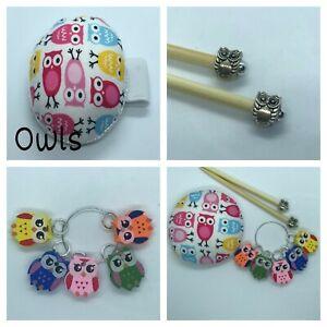 Owl Knitting Gift Set Handmade