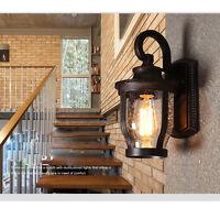 Retro 1* Light Bronze Wide 20CM*Height 32CM Waterproof Outdoor Wall Lighting &