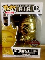 Funko Pop Notorious BIG GOLD W/ Crown Special Edition # 82 Mint Limited Rocks