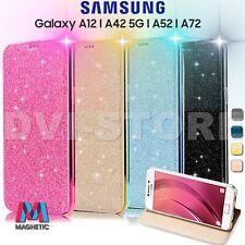 Custodia per SAMSUNG Galaxy A12 A52 A42 5G Libro FLIP Portafogli STRASS Cover