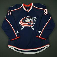 2016-17 Jacob Graves Columbus Blue Jackets Game Issued Hockey Jersey MeiGray NHL