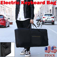61-key Portable Keyboard Piano Organ Carry Case Gig Bag For Yamaha Casio Black