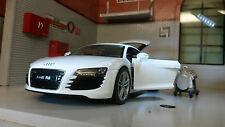 G LGB 1:24 Scala Audi R8 V10 22493 Dettagliato Welly Automodello Metallo