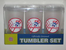 New York Yankees 19 oz. Team Logo Acrylic Frosted Tumbler Cups (Set of 3)