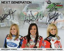 BRITTANY FORCE+SISTERS HAND SIGNED 8x10 COLOR PHOTO+COA      SIGNED BY ALL THREE