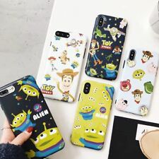 Cute Disney cartoon Toy Story Alien matte IMD case Cover for iPhone X 8 7 6 Plus