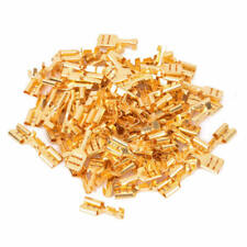 200Pcs Gold Plated Crimp Terminal Female Spade Brass Cable Connector Kit