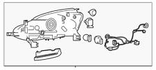Genuine Nissan Headlamp Assembly 26060-5UD5A