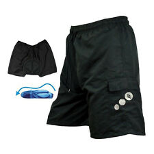 SANTIC Men Padded Baggy Cycling Shorts MTB Bicycle Short Pants Black Size XL