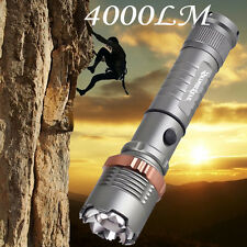 CREE XML T6 4000LM LED Zoomable Flashlight 18650 Tactical Waterproof Torch Light