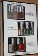 Wet n Wild Nail Polish Collection Set - 9 Mini Color MEGALAST FastDry WILDSHINE