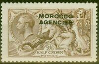 Morocco Agencies 1918 2s6d Chocolate-Brown SG53 B.W Fine Mtd Mint