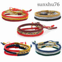 Anklet Jewelry Wristband DIY Rainbow Hand-woven Rope Bracelet Thread Braided