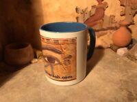 Egyptian eye of Horus mug coffee or tea cup. Eye of protection featuring Nekhbet