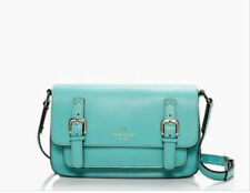 NWT Kate Spade Essex Scout Leather Crossbody Messenger Bag Carribean BLUE $400+